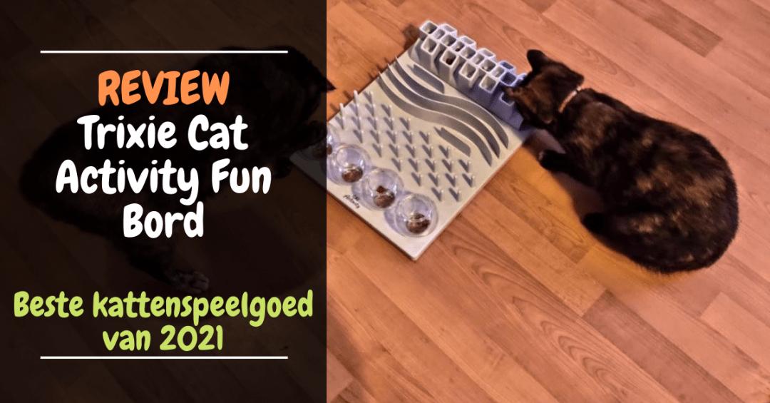 Review Trixie Cat Activity Fun Bord 5-in-1 Beste kattenspeelgoed van 2021
